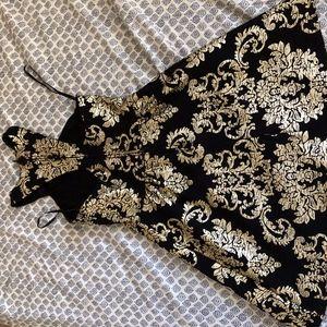 B.Darlin Black and Gold Dress